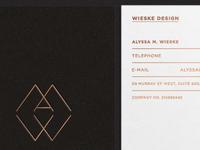 Wieske Design Stationary