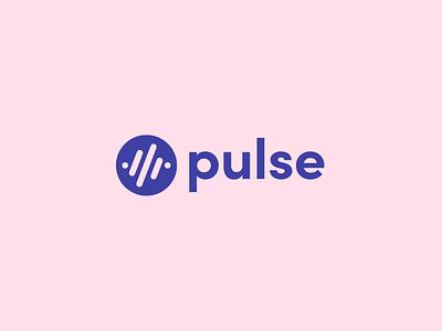 Pulse Logo pink brand logo logo design