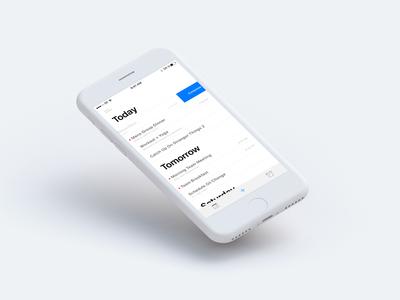 Todo App ios 11 collect ui todo app todo iphone 8 ios 042 list app invision studio app design ui daily ui