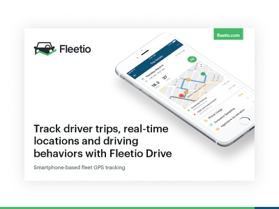Fleetio Drive Booklet print design iphone gps tracking fleetio drive saas app drive fleetio brochure pdf booklet print