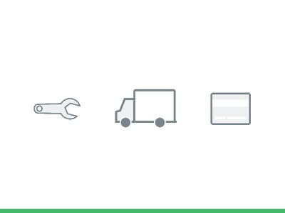 Fleet Icons clean simple wrench icon wrench credit card icon card icon truck icon fleet fleetio