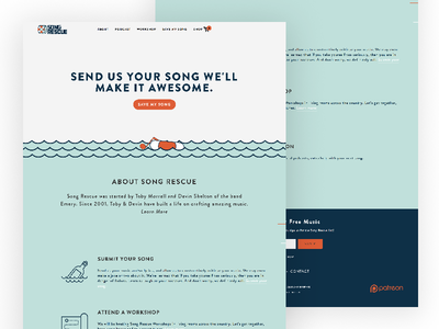 Song Rescue podcast website podcast page podcast site podcast music christian bad christian nashville music site songs rum web design