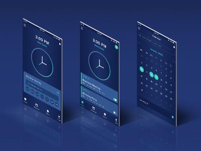 Clock App Screens