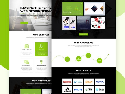 Home page landing page service icons uiux homepage design designing