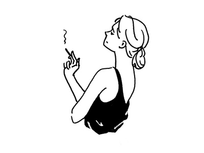 Girl beauty illustraion smoke girl