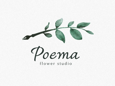 Poema branding illustration logotype brand identity vector logo design