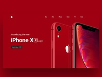 Iphone XR red UI Concept Design