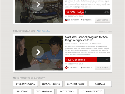 Helpriot Homepage fundraise platform kickstarter help aid web web design ribbon progress progress bar red brown