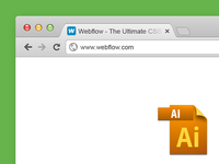Free Vector Chrome Browser Window