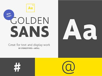 Golden Sans (Free) Font myfonts golden sans golden download artill digital web sans free font