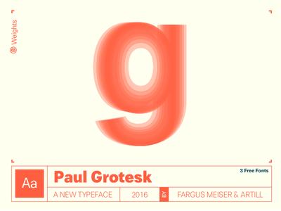 """New Font """"Paul Grotesk"""""""