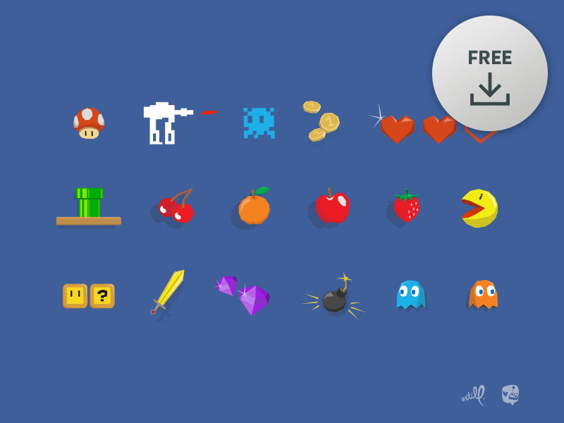 Free] Vector Gaming Icons by Lukas Bischoff on Dribbble