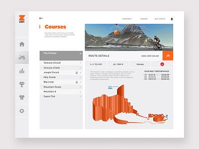 ZWIFT App - Concept zwift bike sport interface design ux ui app