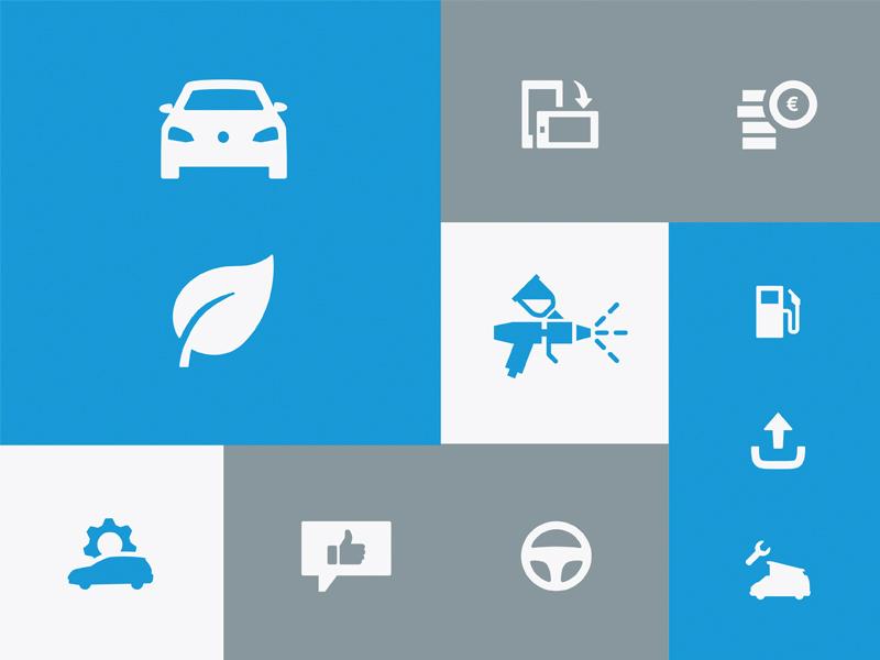 Volkswagen Icons symbols vw web ux ui ci cd brand icons