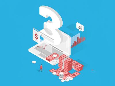 30 Degree -$$$ icon infographic ai illustrator vector isometric iso