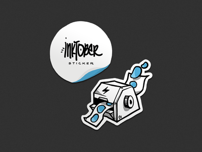 Inktober 2018 - Sticker inktober modern icons character sketch monster streetart sticker