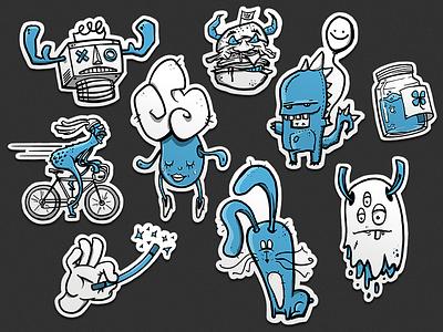 Inktober 2018 - Sticker sketch inktober 2018 monster sticker street art illustration character