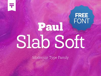 (Free Font) Paul Slab Soft typogaphy photoshop freebee freebbble free font font free