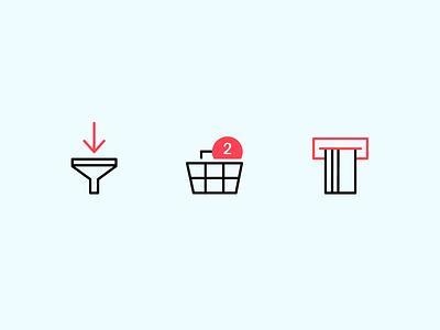 Line Icons Set ecomerce shop ui uidesign vector icons line