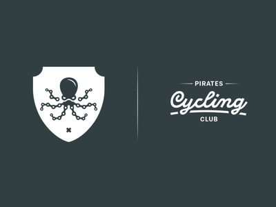 Pirates Cycling Club zwift illustration bike ride typography branding logo icon vector