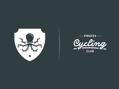 Pirates Cycling Club zwift illustration bike ride typography branding logo icon vector