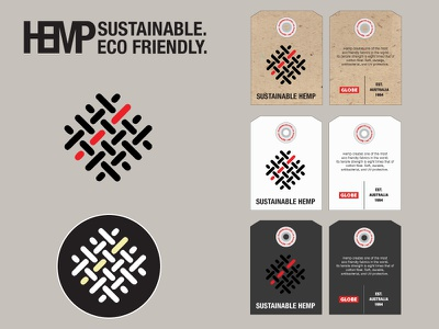 Hemp Garment Hang Tags design typeface logo tags apparel hemp