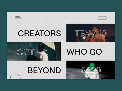 Unbound Conference - Landing Page landing page typography ui branding