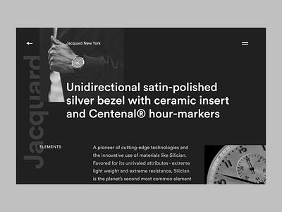 Jacquard Centenal interface typography landing page website ux ui minimal