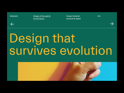 Kaliphate branding ux interface website ui minimal blog landing page typography
