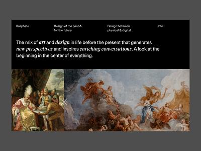 Kaliphate - Homepage portfolio website typography minimal interface ux landing page ui