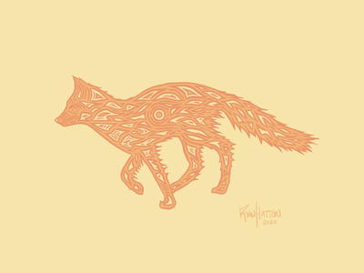 Fox Spirit logo wanderlust nature illustration branding fox logo fox illustration animal nature illustration website design web illustration web art procreate art