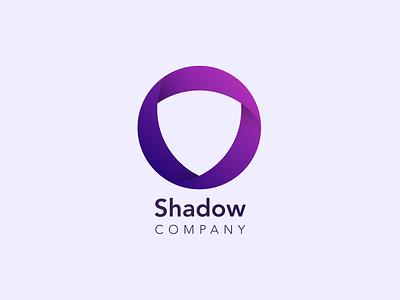 Shadow Company Logo shield badge company shadow type design typography icon vector illustration branding logo design logodesign logo