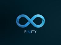 Finity logo branding design icon vector illustration typography infinity finity logo design logodesign logo