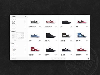 Vans Shop adobexd animation shop ecommerce shop ecommerce sneakers shoes vans ux branding uidesign ui design