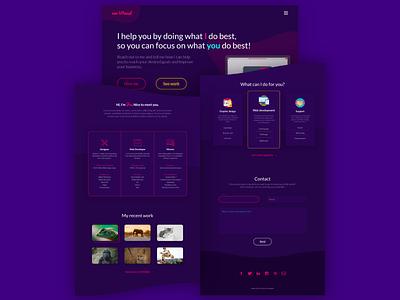 Personal page design (full page version) portfolio personal illustration header svg uidesign design landing ui