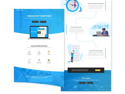ThinQbator web  design app branding typography logo css illustration svg header ui uidesign design landing