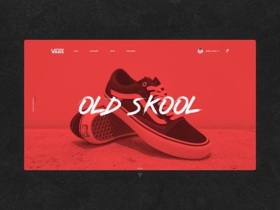 Vans Old Skool design branding typography header uidesign design landing ui