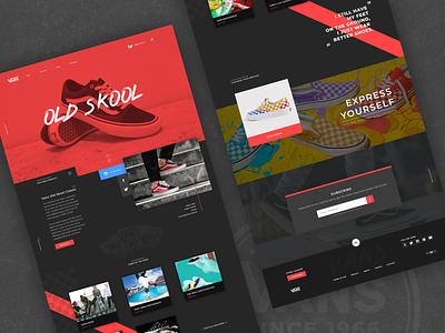 Vans Promotional Page vans web design typography branding svg header design uidesign landing ui