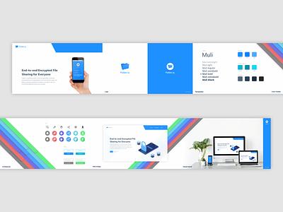 Folder.ly stylescape web design app design landing ux logo illustration branding typography header uidesign ui