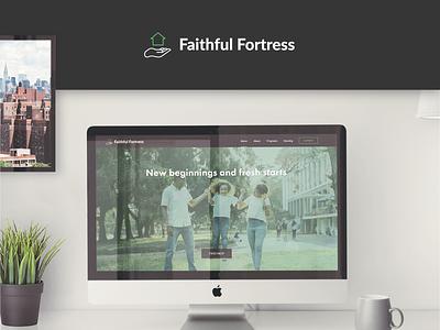 Faithful Fortress design web design ux logo branding typography header design uidesign landing ui