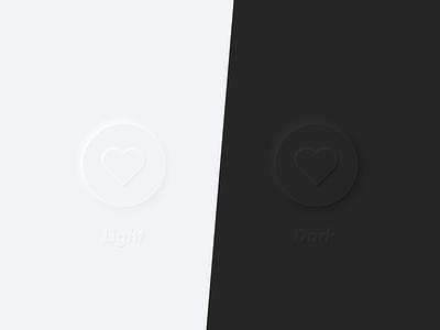 Soft UI buttons neumorphism clean soft ui dark light black white colors icon typography uidesign design ui