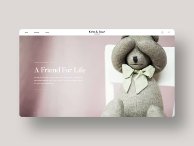 Grin & Bear London: Homepage luxury logo luxury font logotype silk studio luxury brand luxury website ui design webflow interaction animation web design flat identity brand identity
