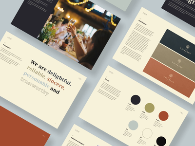 The Old Vicarage: Brand Guidelines deck brand book restaurant branding hotel branding silk studio animation brand guidelines luxury brand logotype brand design logo design branding identity brand identity