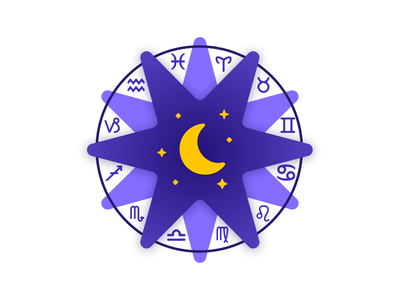 Horoscope-icon-v2 icon vector illustration design app logo