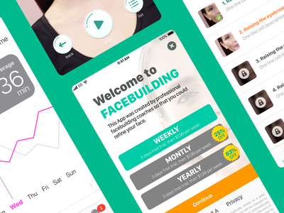 facebuilding app drbl dribbble design app ux ui
