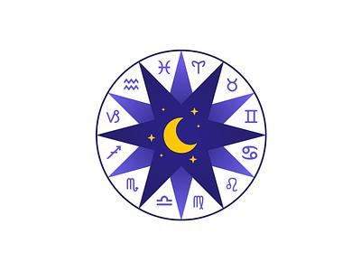 Logohoroscope branding design app ui icon vector illustration logo
