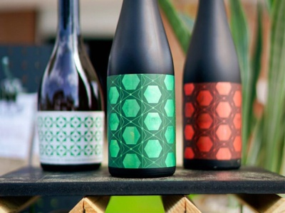 Lenny Boy Labels packaging hexagon bottle charlotte colorful sexy illustration pattern sour label beer