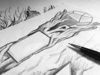 Boojum Brewing Tap Handle Sketch