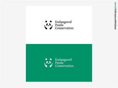 Daily Logo Challenge #03 - Panda illustration graphicdesign logodesign logochallange dribbble endangeredpandaconservation endangeredpanda pandaconservation pandalogo panda logochallenge dailylogochallenge