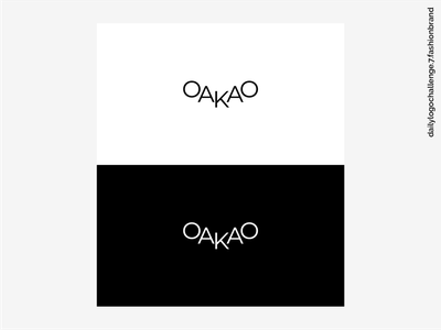 Daily Logo Challenge #07 - Fashion Brand vector graphic design oakao fashion brand logo fashion brand wordmark fashion brand logo7 daily 100 challenge logochallenge logo logotype logos dailylogochallenge dribble